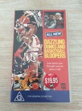 Dazzling Dunks And Basketball Bloopers Vintage NBA VHS Tape Brand New!