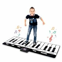 Abco Tech Giant Musical Piano Play Mat Jumbo Floor Keyboard 8 Sounds 70 Inches