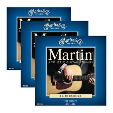 3 Sets of Martin Model M150 Medium 13-56 Bronze 80/20 Acoustic Guitar Strings