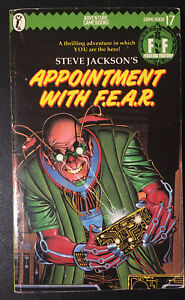 APPOINTMENT WITH F.E.A.R. Fighting Fantasy #17 1985 1st/2nd Green Banner VG+