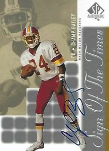 Champ Bailey Signed 2000 SP Authentic Sign of the Times Redskins Card #CH UGA CB