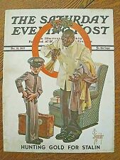 1937 Saturday Evening Post cover-Black porter/young cadet-Leyendecker-Christm as
