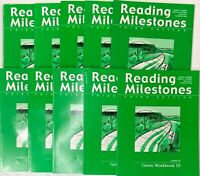 Reading Milestones Green Level 4 Set of 10 Workbooks 1-10 3rd Third Edition