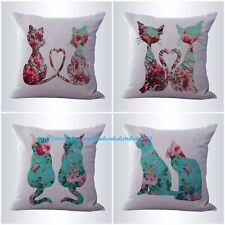 US SELLER-4pcs cushion covers shabby chic cat pet pillow wholesale lot