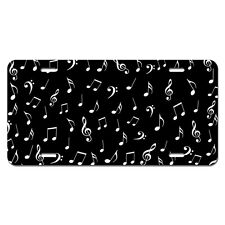 Music Notes Treble Bass Clef Novelty Metal Vanity License Tag Plate