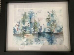 John Lewis Voyage Maison Wilderness Topaz stag Framed Art Print