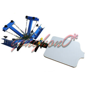 4 Color 2 Station Silk Screen Printing Machine 4-2 Press DIY T-Shirt Printer