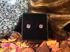 Awesome lovely Pink Sapphire CZ 5mm surgical steel claw stud earrings 💗