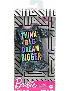 Barbie Doll Clothes, Fashionistas Dress Think Big Dream Bigger, Mattel Barbie
