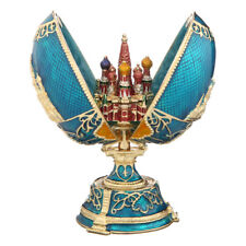Russian Faberge Egg with Moscow St-Basil's Cathedral 4.7'' (12cm) light blue