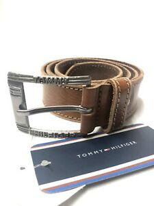 Men's Tommy Hilfiger Leather Belt Brown Size 30 To 34 Waist Nw uk01378