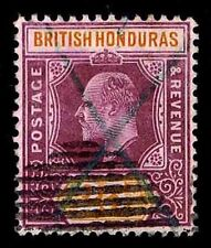 1906 BRITISH HONDURAS #67 KING EDWARD VII - USED  - VF - CV$55.00 (ESP#1804)