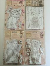 Docrafts Santoro London - Willow Rubber Stamp Set of 4 NEW