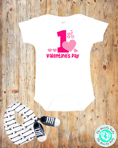1st Valentines Day Baby/Infant/Toddler Onesie®- Customization Available