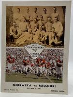 Nebraska Vs Missouri Football Program Vintage Original Oct 31 1964 20-810E
