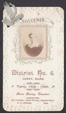 Anna Bailey - 1908 Lawry, Maine School Teacher Photo Souvenir Card