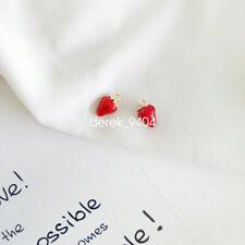 strawberry enamel amulets