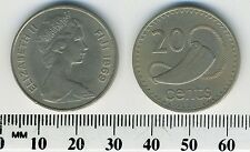Fiji 1969 - 20 Cents Copper-Nickel Coin - Queen Elizabeth II - Tabua