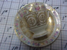 KPM SUSSEX ROYAL IVORY GERMANY DEMITASSE CUP AND SAUCER ROSES & MUCH GOLD