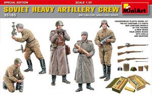 Miniart 1:3 5 Soviétique Lourd Artillerie Ras WWII Figurines Modèle Kit