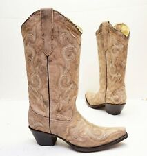 Corral Ladies Distressed Brown/Chocolate Embroidery Western Boot E1004 - Sz 9.5