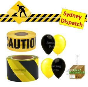 Construction Theme Birthday Party Decoration Caution Barrier Tape Set Supplies
