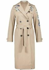 Versatile Classic Tie waist Trench Coat with Embroidery Detail size 16 (42')