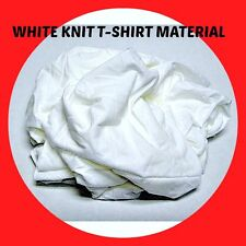 WHITE T-SHIRT KNIT COTTON WIPING RAGS LOW LINT #101 25 POUNDS