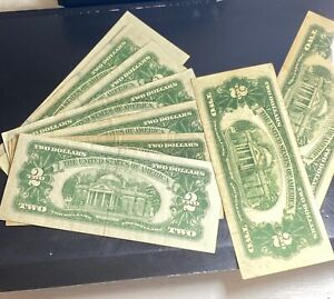 Lot of 9 - Series 1928 1953 1963 w/Star US Red Seal Notes