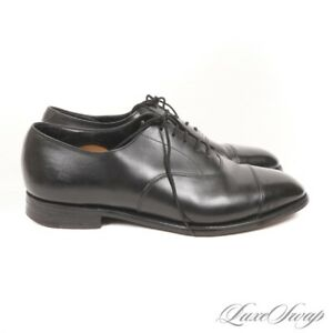Ede & Ravenscroft 1689 Made in England Black Polished Leather Oxford Shoes 10.5