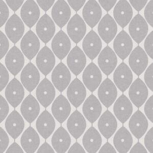Oval Grey Vinyl Oil Cloth