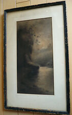 A.B. Harris, LISTED OLD ANTIQUE 1890s CALIFORNIA LANDSCAPE CALIF. CA NOCTURNE