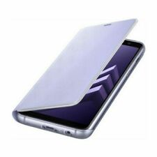 Samsung Custodia Originale Neon Flip Cover libro per Galaxy A8 2018 A530F Viola