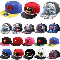 Kids Boy Girl Superhero Hiphop Baseball Cap Summer Sport Snapback Sun Peaked Hat