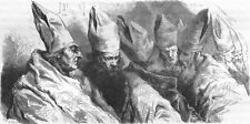 ROME. Oriental Bishops with long beards  1872 old antique print picture