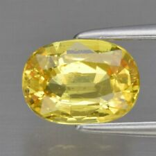 Good Flashing 1.28ct 7.4x5.3mm Oval Natural Unheated Yellow Sapphire, Thailand