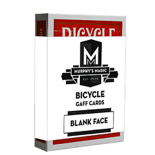 Blank Face Bicycle Cards (Red) from Murphy's Magic