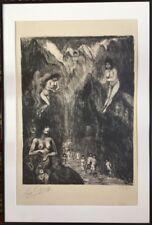 Edouard GOERG 1893-1969.Le bain des sorcières.Lithographie.SBD.40x30.