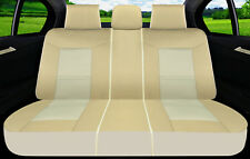 Rear Car Seat Cover Polyester Fabric Semi-Custom for Ford 1805-3 Tan