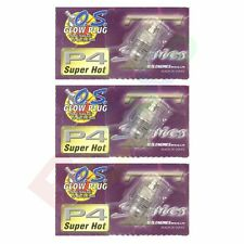 3PCS OS GLOW PLUG P4 TURBO SUPER HOT OFF-ROAD # OS71641400 O.S. Engines Parts