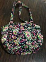 Vera Bradley GLENNA PETAL PAISLEY shoulder tote bag purse handbag blue pink
