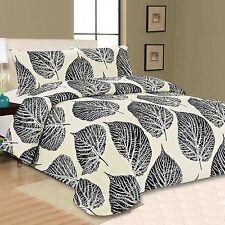 AUTUMN Leaf Print Copripiumino trapunta con federe per cuscini Set di biancheria da letto Doppia Dimensione