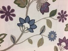 Iliv Kelty Bilberry Crewel Work Curtain Fabric From The Moorland Collection