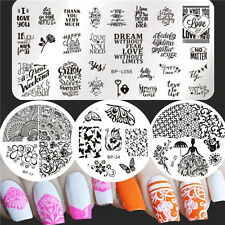 Born Pretty Nail Art Stamping Plates Flower Butterfly Stainless steel Templates