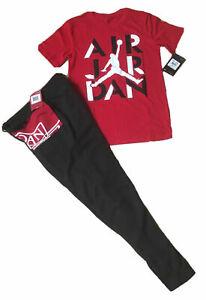 NWT Nike Air Jordan Boys 2 PC Sets Shirt & Track/Sweatpants ASSTD Styles, Sz S-L