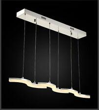 Lampada Led a Sospensione in Cromo Telaio Bianco Caldo Design Lusso + Sprasam