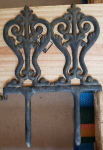 """50 LINKABLE ANTIQUE CAST IRON GARDEN BOARDER EDGING 7.5"""" × 7.5"""" Approx  USA"""