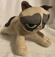 "Toy Factory Grumpy Cat Plush Stuffed Animal 10""  Kitty Kitten Soft Toy Tan Brown"