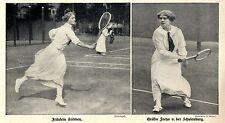 TENNIS-assi: Baetens. kribben & contessa Freya v.d. scuole Castello storica registrazione 1914