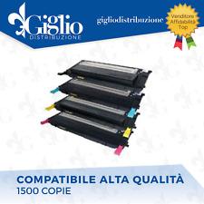 KIT 4 TONER SAMSUNG CLP 310/ 315 CLX 3170/ 3175 CLT 4092 COMPATIBILI 4 COLORI